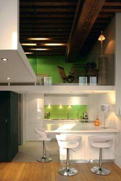 Une cuisine ouverte discrète et élégante