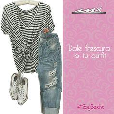Que no te vuelvan loca estos días calurosos, dale frescura a tu #Outfit #adioscalor #jeans #guadalajara