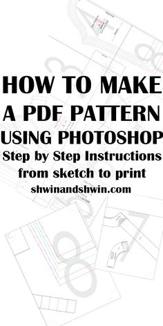 How to make a PDF Pattern in Photoshop |  Best Free Online PDF Sewing Patterns…