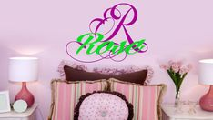 Personalized Monogram & Name Removable Wall Art by ChicWallsDesign