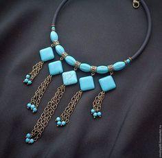 Bead Jewellery, Beaded Jewelry, Jewelery, Jewelry Necklaces, Handcrafted Jewelry, Diy Necklace, Necklace Designs, Jewelry Patterns, Polymer Clay Jewelry