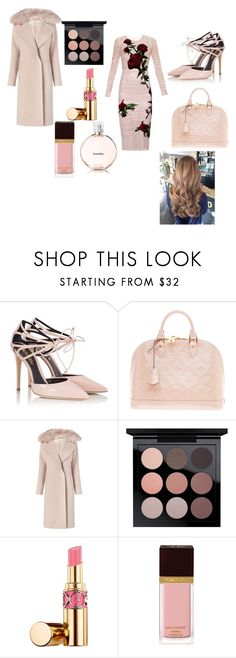 """""""Dusty Rosie"""" by jewlesfashionline ❤ liked on Polyvore featuring Fratelli Karida, Louis Vuitton, Diane Von Furstenberg, MAC Cosmetics, Yves Saint Laurent, Tom Ford and Chanel"""