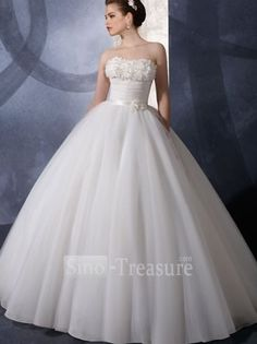 White Ball Gown Strapless  $202.00