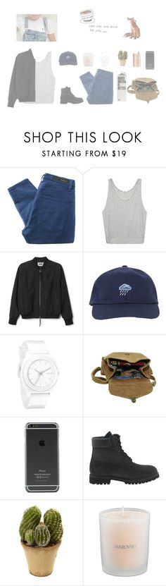 """""""[ Get Ugly ]"""" by itstepna ❤ liked on Polyvore featuring Nobody Denim, Helmut Lang, Reverie, Nixon, Maison d'usQ, Timberland, Nearly Natural, Swarovski and INDIE HAIR"""