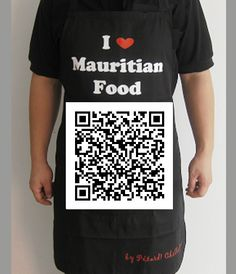 Our popular `I Love Mauritian Food` apron.