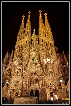 La Sagrada Familia,Barcelona,Spain.  So gorgeous!
