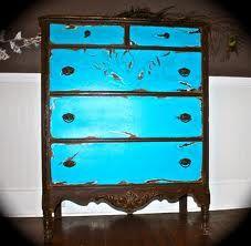 dresser blue and black/dark brown