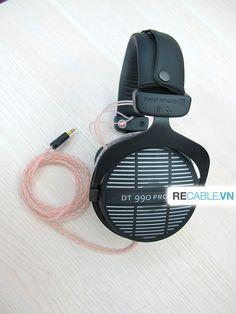 Chú Beyerdynamic DT990 Pro phiên bản dành riêng cho studio đã được recable full dây đồng OCC , khách rất ư là hài lòng về chất âm sau khi recable :)