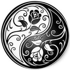 Voici quelque temps que je cherche à faire ce symbole en dentelle. Vous me connaissez, il me fallait savoir comment dessiner ce symbole. Une recherche avec Google, m'appris que des mathématiciens avaient déjà étudié la courbe qui sépare le yin et le yang...