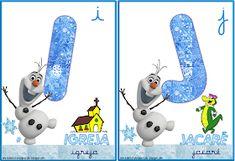 A Arte de Ensinar e Aprender: Cartelas alfabeto temático Frozen School Frame, Snowman, Disney Characters, Fictional Characters, Frozen, Christmas Ornaments, Holiday Decor, Visual Perceptual Activities, Alphabet