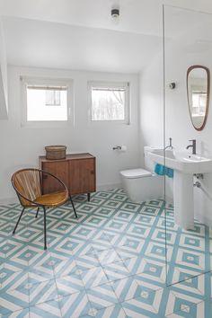 łazienka / bathroom our project #idea #elegant #colors #blue #beige  #patterns  #inspiration #interiordesign #inspiracje #wnętrza Corner Bathtub, Bathroom, Washroom, Full Bath, Bath, Bathrooms, Corner Tub