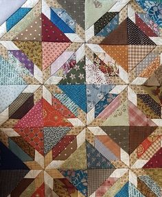 Star quilt-block patterns for an astronomical block challen Colchas Quilting, Scrappy Quilt Patterns, Scrappy Quilts, Mini Quilts, Quilting Projects, Quilting Designs, Star Quilt Blocks, Star Quilts, Hunters Star Quilt