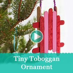 Use popsicle sticks to make your own tiny toboggan Christmas tree ornaments. Maybe Logan would make these with me since they aren't girlie.