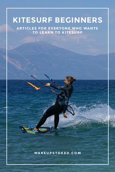 Are you a kitesurf beginner or learning kitesurfing? Here you can find all the info and tips you need. #kitesurfing