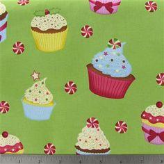 Chr-25 Christmas Cupcakes Fabric  sku# 768697