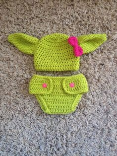 Crochet Toddler Yoda Photograph Prop Set, Star Wars, Child Woman, Child Boy, Gender Reveal, Being pregnant Announcement. >> Learn more by going to the photo link