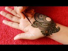 Beautiful Semi Bridal Front Hand Mehndi Designs | Easy Arabic/Arebik Henna Mehndi Tutorial Beginners - YouTube Very Simple Mehndi Designs, Mehndi Designs Front Hand, Mehandi Designs Easy, Mehndi Designs For Beginners, Mehndi Simple, Dulhan Mehndi Designs, Latest Mehndi Designs, Mehndi Designs For Hands, Bridal Mehndi Designs