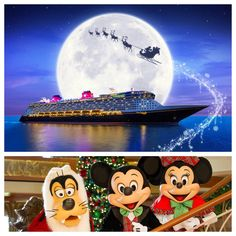 Disney Cruise Line offers Very Merrytime Cruises for most sailings beginning in November through December. These holiday sailings offer special events. Disney Destinations, Disney World Resorts, Disney Vacations, Disney Trips, Walt Disney, Christmas Cruises, Disney World Christmas, Christmas Holiday, Cruise Door Decor