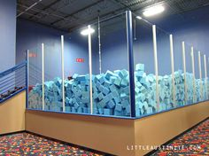 a foam pit with a rope to swing into it :) I want that for my birthday
