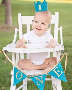 Turquoise Aqua Blue Felt Gold Glitter Mini Birthday Crown Headband AND one Banner, Boy, Girl, Prince, Smash Cake Photo Prop, Baby Party by LittleLoveLane on Etsy https://www.etsy.com/listing/246041808/turquoise-aqua-blue-felt-gold-glitter