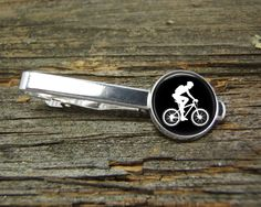 Biker Dirt Bicycle Vintage Tie Clip Black White-Wedding-Wedding Cufflinks-Cufflink Box-Jewelry Box-Silver-Keepsake-Man gift-Antique-Cyclist by CynthiaCoolBeans on Etsy