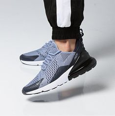 huge discount ff61e 3ebed Nike Air Max 270 (Ashen Slate) Obsidian Black Mens Sneakers  AH8050-403  UK  9.5  Nike