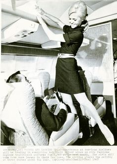 "August 23, 1967: ""Stewardesses from American Airline will be trading in everything but their silver wings as chic fashions replace traditional uniforms for 3,000 girls next month. The girls will even have some leeway with their hemlines. The airline places the ceiling at three inches above the knee."""
