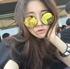 Image via We Heart It #asiangirl #glasses #photo #style