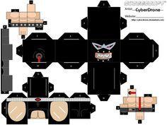 (Cubee - Bane 'Version By: CyberDrone. Diy Paper, Paper Crafts, Paper Cube, Toy Craft, Paper Models, Paper Toys, Bane, Origami, Geek Stuff