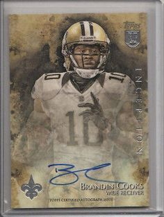 nice 2014 TOPPS INCEPTION BRANDIN COOKS ROOKIE AUTO ON CARD - For Sale View more at http://shipperscentral.com/wp/product/2014-topps-inception-brandin-cooks-rookie-auto-on-card-for-sale/