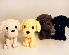 Miniature puppy pattern by sharon ojala – Artofit Crochet Dog Sweater Free Pattern, Crochet Dog Patterns, Crochet Bear, Amigurumi Patterns, Crochet Animals, Crochet Toys, Golden Labrador Puppies, Miniature Puppies, Dog Crafts