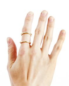 Gold Parallel Ring - JewelMint