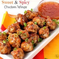 Crispy, Sweet and Spicy Chicken Wings