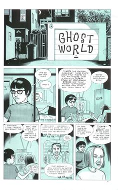 Ghost World   first page of comic   dan clowes
