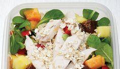 Salat Rezept: Lunchbox mit Papaya-Hähnchenbrust und Chili