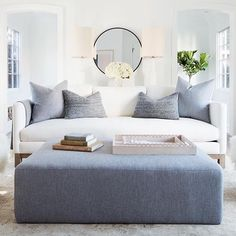 Love this living room of @erinfetherston via @onekingslane. The brightness and calm colours make me think of Spring  by @treasurbite