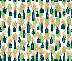Herbacious fabric by suestrobel on Spoonflower - custom fabric