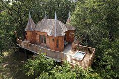 La Cabane spa château Monbazillac - Cabane dans les arbres