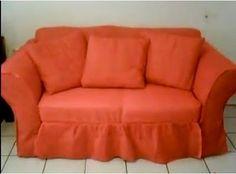 Como hacer una funda para sofa Furniture Covers, Chair Covers, Furniture Makeover, Diy Furniture, Garden Furniture Design, Baby Dress Design, Diy Crafts For Gifts, Soft Furnishings, Slipcovers