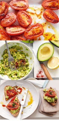 Sweet roasted tomatoes on a bed of creamy mashed avocado finished with a pinch of smoked paprika. This tasty breakfast recipe is a great source of vitamin E and one of your five a day. You can watch this recipe at waitrose.com/tv
