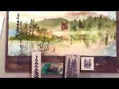Landscape Reflections with Stamping and Watercolor - YouTube