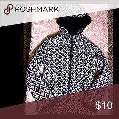 "Girls ""Sherpa"" lined fleece jacket EUC, lightly worn. Damask print. Faded Glory Jackets & Coats"