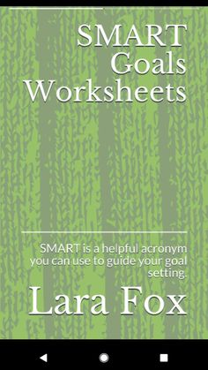 Use the SMART acronym to help break up goals into manageable steps Smart Goals Worksheet, Breakup, Worksheets, Acting, Fox, Essentials, Books, Breaking Up, Libros