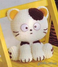 Котик-очаровашка крючком. Описание вязания