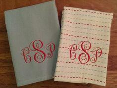 Monogramed Towels