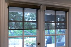 Automatic blinds that provide shade, but don't block out your beautiful view!