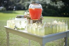 for wedding guests before the wedding begins...  great for an outdoor summer wedding