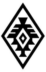Diseño mapuche. Versión del diseño tradicional de una estrella que muestra las seis puntas mínimas. Esta versión añade, además, dos puntas entre las coordenadas principales. Gentileza Fundación Chol Chol, Chile. - Guardas aborígenes
