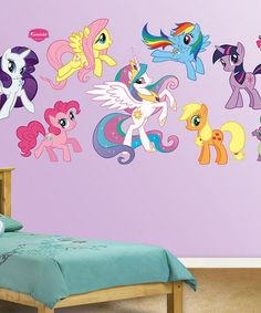Another great find on #zulily! My Little Pony Collection Wall Decal Set by My Little Pony #zulilyfinds