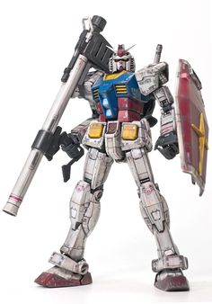 RG 1/144 RX-78-2 Gundam: Amazing Weathered Ver.!!!! Photoreview Wallpaper Size Images. Modeled by Gislab12 | GUNJAP